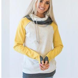 Toptan satış Yüksek Kalite 3XL Sonbahar Kış Sıcak Hoodies Tişörtü Kadın Kazak Hoodie Kadın Patchwork Kapüşonlu Kapüşonlu Sweatshirt Ceket Hoody