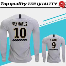 uniform army 2019 - Long Sleeve #7 MBAPPE PSG Away Soccer Jersey 18 19 #10 NEYMAR JR Paris Saint-Germain Soccer Shirt 2019 #9 CAVANI Away Fo