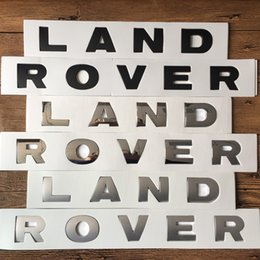 Discount car letter badges - Land Rover Range Rover Discovery car styling front bonnet hood and rear tail trunk logo badge brand letter emblem sticke