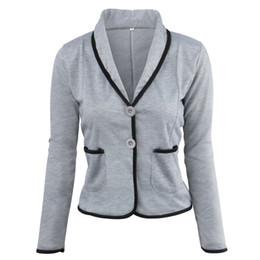 Blazers Short Coat Canada - Ladies Blazers and Coats Thin Office Wear Plus Size Black Small Suit Bodycon Slim Short Blazer Jackets Women Coat Female S-6XL