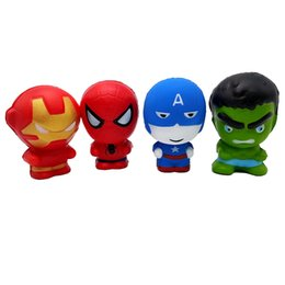 $enCountryForm.capitalKeyWord UK - Hot Selling Slow Rising The Avengers Iron Man Captain America Spiderman Hulk Squeeze Toy Superhero Superman Squishies Toys For Kids to