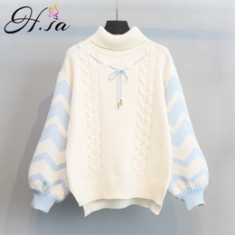 c8160f7997 H.SA 2017 Winter Spring New Arrivals Women Turtleneck Sweater Jumpers Puff  Sleeve Pullovers ugly christmas sweater robe pull