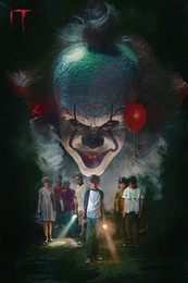 Wholesale new movies posters online – design New IT Movie Pennywise Stephen King Horror Art Canvas Poster Modern HD Print Oil Painting Wall Art Painting Picture Poster For Room Decor