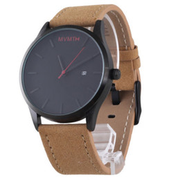 cool stylish glasses UK - 2018 New Men's Watch Simple and Stylish Generous Cool Quartz Watch Clock Gift Quartz Lady leather Watches good guality you resell well
