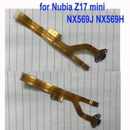 Apple Mini Connector Australia - LTPro Original Charging Port Flex Cable Ribbon For Nubia Z17 mini NX569J NX569H Dock Connector Micro USB Charging Port