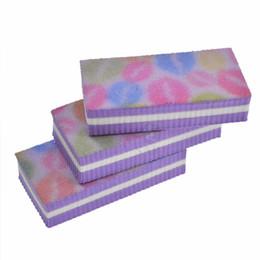 $enCountryForm.capitalKeyWord NZ - Salon 4pcs lot Purple Lips Image Sanding Sponge Board Nail Art File Buffing Manicure Emery Polishing Grinding SATR17 Nail Salon 4pcs lot ...