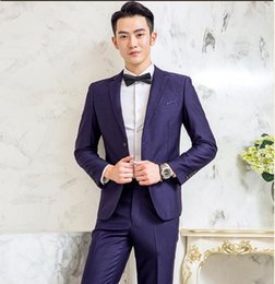 Army Wedding Dresses Australia - Men's suit set two-piece slim fashion anti-wrinkle business casual professional men's suit, wedding groom groomsmen dress
