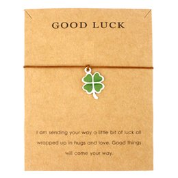 clover bracelets wholesale 2019 - Infinity Love Good Luck Four Leaf Clover Peace Baby Feet Tai Chi Angel Wings Karma Family Balance Charm Bracelets for Wo
