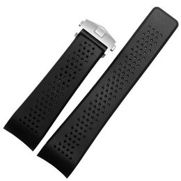 $enCountryForm.capitalKeyWord UK - Silicone Rubber Watch Band Strap for TAG Heuer Wristband Watchband 22mm 24mm