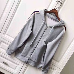 Long Upper Suit Canada - Fashion Autumn Winter New Men's Casual Sweater Sports Suit Fashion Simple Upper Body Effect Good gray High-Density Webbing