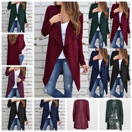 $enCountryForm.capitalKeyWord Canada - European fashion hot solid Lapel long sleeved cardigan casual knit fabric cross S, M, L, XL support the mixed batch