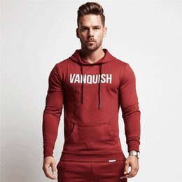 gym jacket UK - Wholesale- 2018 New Hot Men Gyms Hooded Jacket Sweatshirts Men Pure Cotton Hoodies and Joggers Bodybuilding Sweatshirts Free Shipping