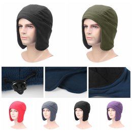 Ski ear online shopping - Winter Trapper Hats Colors Ear Caps Outdoor Warm Hat Skiing Cycling Sport Windproof Cap Party Hats OOA5958