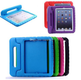 Ipad aIr shell online shopping - Portable Kids Safe Foam Shock Proof EVA Handle Cover Stand Case for iPad mini Air Pro free
