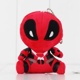 $enCountryForm.capitalKeyWord UK - Free Shipping 10 Pcs lot Q Version Movie X-men Deadpool Deadpool Plush Toys Soft Stuffed Figure Dolls Keychains Pendents 10cm
