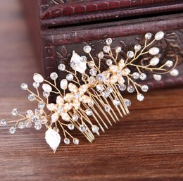 Drilling Pearl NZ - Pearls, hand-made comb, gold, silver, water, drill, plate, hair ornament, bride hair, bridal ornaments, headwear.
