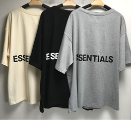 Wholesale tshirt printings god for sale – custom Fear Of God t shirt Half Sleeve Cotton Tshirt Back Letters Fog ESSENTIALS Oversize T shirt Summer Style Fear Of God t shirt Streetwear