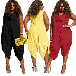 d13628e4ec0e Plus size women jumpsuit romper 2018 sleeveless sexy summer loose pant wide  leg casual harem party playsuit outfit overalls hot
