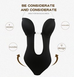 c429f6ad9a9 Women Push Up Bra Invisible Bras Shaper Bodysuit Seamless Backless Clear  Strap Bodysuits Plunge Thong Shapewear for Party Club Dress