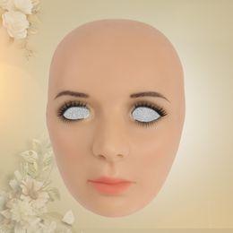 $enCountryForm.capitalKeyWord Australia - silicone mask female Goddess Alice female face mask with light makeup for crossdresser Masquerade Hide facial scars