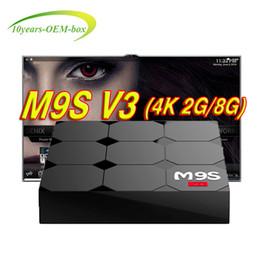 Media Player Australia - M9S V3 4K Android 6.0 TV Box RK3229 2GB RAM 8GB Quad Core Internet Media Player WiFi Set Top Boxes Better s905w X96 mini MXQ Pro T95Z