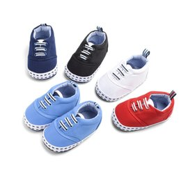 Discount small elastic bands - Baby Boy Shoes Baby Girl Solid Color Elastic Band Cotton Shoes Small Square Printing The First Walker