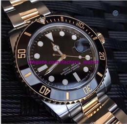 $enCountryForm.capitalKeyWord Australia - Luxury Best V7 Version Two-Tone 18K Wrapped Gold Mens Automatic Watch Ceramic Bezel Eta 2836 Movement Date Men Dive Sport