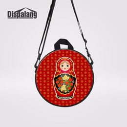 Wholesale Children Lovely Matryona Messenger Bag Matryoshka Doll Print Crossbody Shoulder Bags For School Kids Mini Round Bagpacks Rugtas