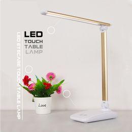 $enCountryForm.capitalKeyWord Australia - Hot selling LED Desk Lamp Table lights Folding Eye-friendly 3 Light Color Book Light Built in battery charge mobile phone