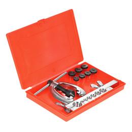 $enCountryForm.capitalKeyWord UK - Freeshipping 9Pcs lot Double Pipe Flaring Tool Kit Set Tube Bender Pipe Repair Mechanic Brake Plumber Aluminium Copper Brass Flares