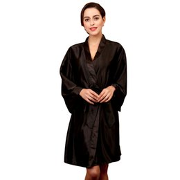 6fc3dff4de 2018 Womens Sleep Sleep Tops Casual Comfortable Silk Full Solid V Neck Knee  Length Loose Belt Night Gown Pajamas Tops