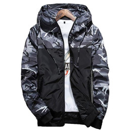 mens windbreaker jackets UK - Hot Spring Autumn Men S Camouflage Coat Mens Hoodies Casual Jacket Brand Clothing Mens Windbreaker Coats Male Outwear 5xl