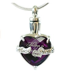 $enCountryForm.capitalKeyWord UK - Fashion jewelry necklace stainless steel can open gem heart-shaped ash cremation jewelry bottle ashes pendant necklace