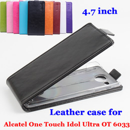 alcatel one touch flip case UK - Leather case For Alcatel One Touch Idol Ultra OT6033 OT-6033 6033X Flip cover housing For Alcatel OT 6033 X Phone cases Fundas
