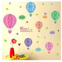 $enCountryForm.capitalKeyWord NZ - Cartoon Children's Room Kindergarten Colorful Hot Air Balloons Cloud Baby Wall Decoration Decorative Background Wall Stickers