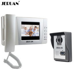 free video phone 2019 - JERUAN Home Wired Cheap 4.3 inch LCD Color Video Door Phone DoorBell Intercom System IR Night vision Camera FREE SHIPPIN