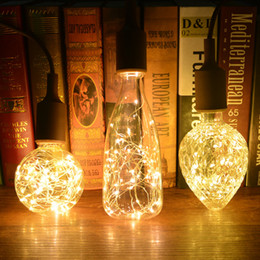 China Vintage Creative Edison E27 bulb LED Filament lamp 110V 220V Copper Wire String light Replace Incandescent Bulbs holiday Decor cheap replacing incandescent bulbs suppliers