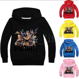 Girls hooded sweatshirts online shopping - Kids Fortnite Casual Sweatshirt Colors Boys Girls Cotton Spring Fall Hoodies Pullover Long Sleeve Blouse OOA5222