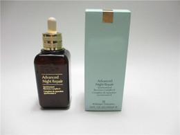 Acne treAtment serum online shopping - Top Quality Brown bottle Advanced Night Repair Essences Serum ML Moisturizing Repair Essence Popular skin care product