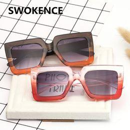 17b53d0cc133 Sunglasses Names Canada - SWOKENCE Fashion Square Frame Sunglasses Women  Men Name Brand Designer Vintage Gradient