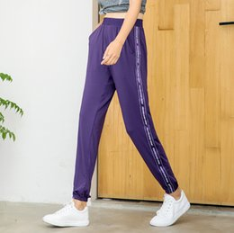 25009f9dc65e Fitness pants summer thin section women loose thin section beam foot closed  casual trousers quick-drying running sport pants