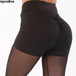 Pink Yoga Pants Leggings Australia - 2018 Sportswear Running High Waist Yoga Pants Sexy Mesh Patchwork Sports Leggings Women Fitness Clothing Black Gym pants