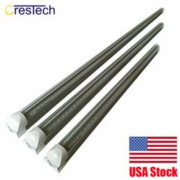 China 8ft T8 Led Tubes Light 3ft 4ft 5ft 6ft 8ft V Shaped Led Cooler Door Tubes Lighting Freezer double row shop lights fixture supplier ul shop suppliers