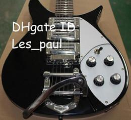 $enCountryForm.capitalKeyWord NZ - John Lennon 325 RIC Short Scale Black Electric Guitar 3 Pickups Bigsb Bridge Chrome Hardware RARE Guitar