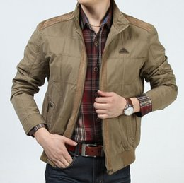 b6eece6698b New 2017 Plus Size Loose Men Jacket Brand-clothing Spring and Autumn 100% Cotton  Military Mens Jackets and Coats Afs Jeep Brand