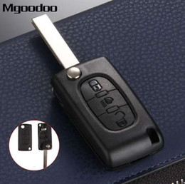 $enCountryForm.capitalKeyWord Australia - Mgoodoo 3 Button Flip Folding Remote Entry Key Fob Case Cover Blank Blade For Citroen C4 Picasso C5 C6 Replacement Car Key Shell
