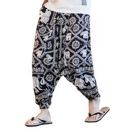 c559565d2 China Style Printing Men Casual Pant Loose Cotton Linen Harem Pant Male  Fashion Nepal Travel Trousers Jogger Sweatpants