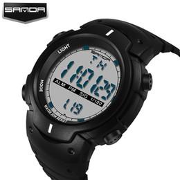 Men Digital Wrist Watches Australia - 2018 Sanda Brand Luxury Multifunction Army Led Digital Watch For Men Ladies Clock Womens Male Wrist Sport Wristwatch Saat