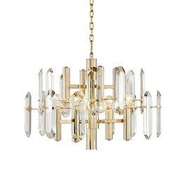 $enCountryForm.capitalKeyWord Australia - Modern Luxury Crystal Pendant Light New Ceiling Lamp Fixture Gold Lighting Suspension New for Living Room Dinning Room B042