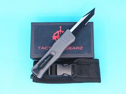 $enCountryForm.capitalKeyWord Australia - Allvin Grey 616 Large Auto Tactial Knife 440C Single Edge Tanto Half Serration Black Blade Outdoor Survival Tactical Gear